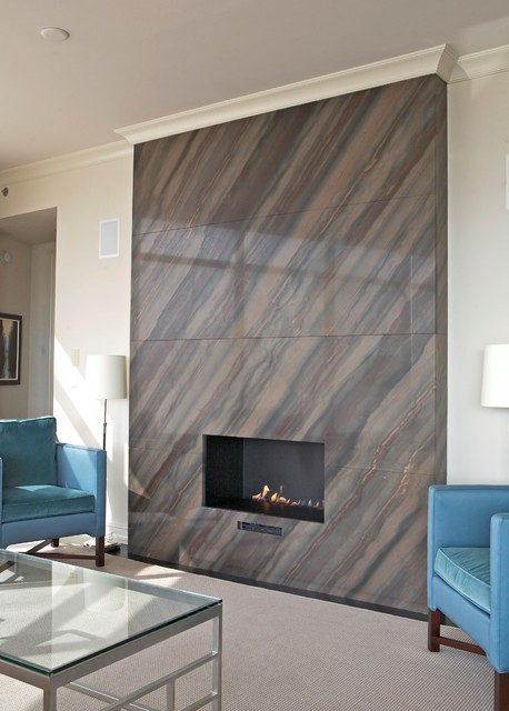 Astoria Fireplace Contemporary Tile Atlanta By CR