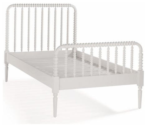 Kids White Spindle Jenny Lind Bed by The Land of Nod traditional kids beds
