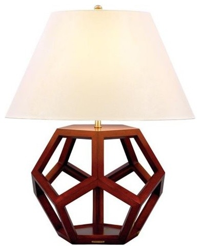 Dustin Dodecahedron Table Lamp - Lauren contemporary table lamps