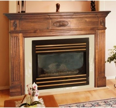 Pearl Mantels Old Hickory Wood Fireplace Mantel Surround - modern ...