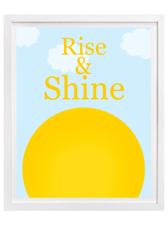 Nursery Art, Childrens Art - Rise and Shine - childrens nursery art. Looks great above and crib or bed.
