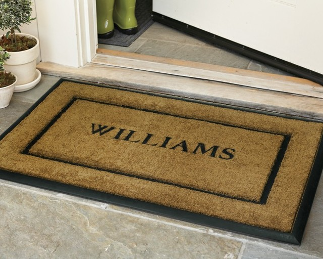 Personalized Rubber And Coir Picture Frame Doormats