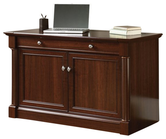 Sauder Palladia Technology Cabinet in Select Cherry - Transitional - Storage Units And Cabinets ...