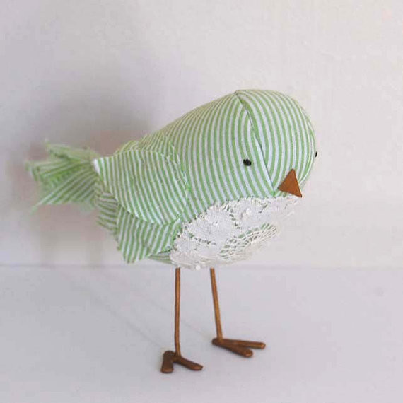 Handmade Love Bird Soft Sculpture by ashleyannabrown eclectic-artwork