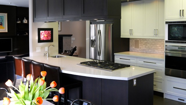 Old Footprint, New Look contemporary-kitchen-countertops