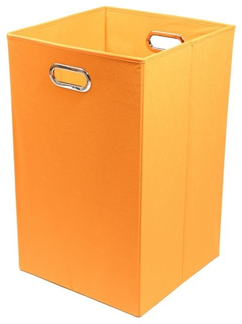 Laundry basket orange contemporary hampers by modern littles