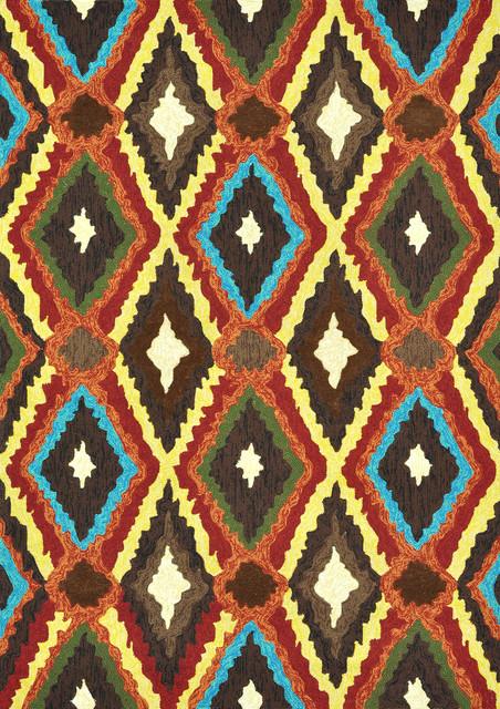 "Loloi Enzo EZ-05 7'6"" x 9'6"" Brown, Multi Rug eclectic-rugs"
