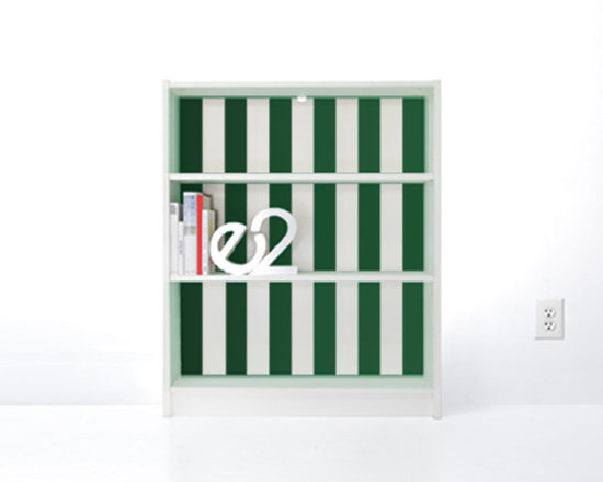 PANYL Emerald Thick Stripes for IKEA BILLY - Give your bookcase a bold new look with PANYL Thick Stripes. Easy to apply and no mess!