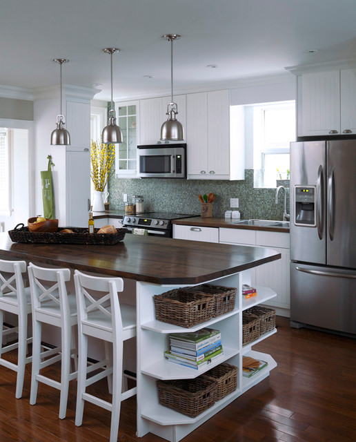 Kitchen Cabinet Salvage: Reclaimed Solid Wood Slab Kitchen Island And Counter Tops