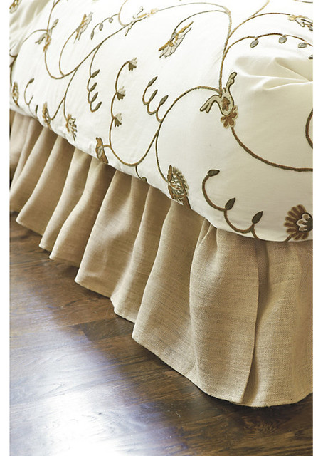 Basic ruffled bedskirt traditional bedskirts by ballard designs