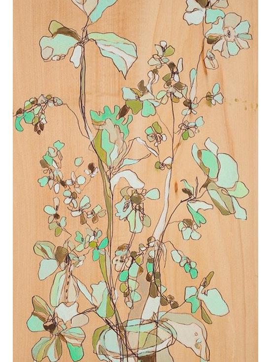 Irvington Mint Floral Canvas Print by Jennifer Mercede -