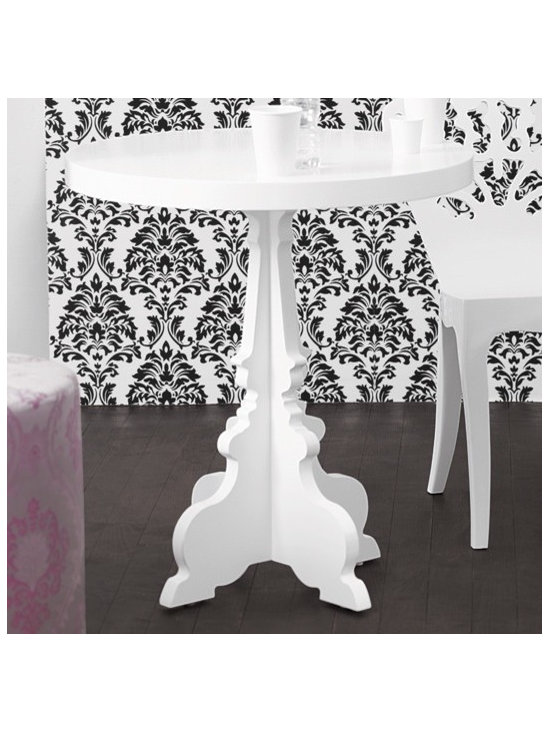 silhouette cafe table in white - brocade home -