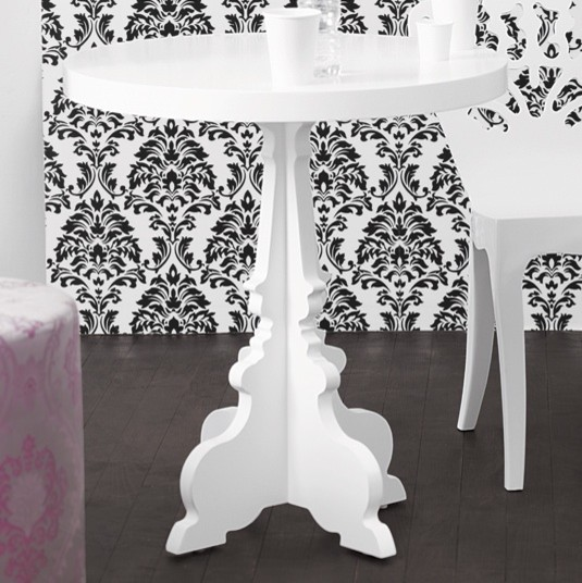silhouette cafe table in white - brocade home contemporary-side-tables-and-end-tables