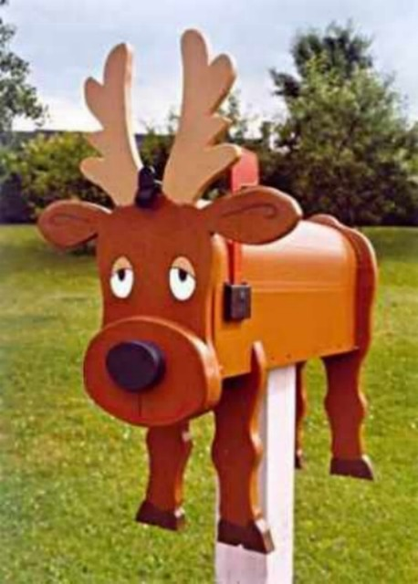 Decorative Moose mailboxes - Modern - Mailboxes