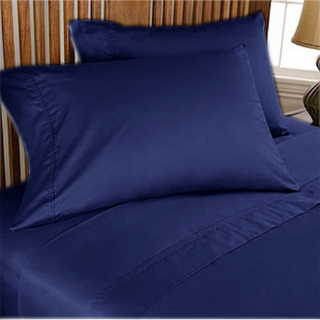 1000TC Egyptian Cotton Sheet Set 4pc Navy Blue - FREE USA SHIPPING