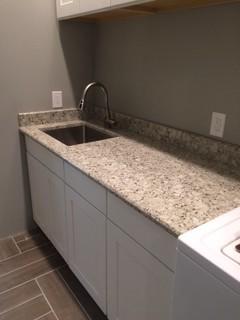 Safari Quartz -supplier Pental Quartz eased edge detail Laundry room