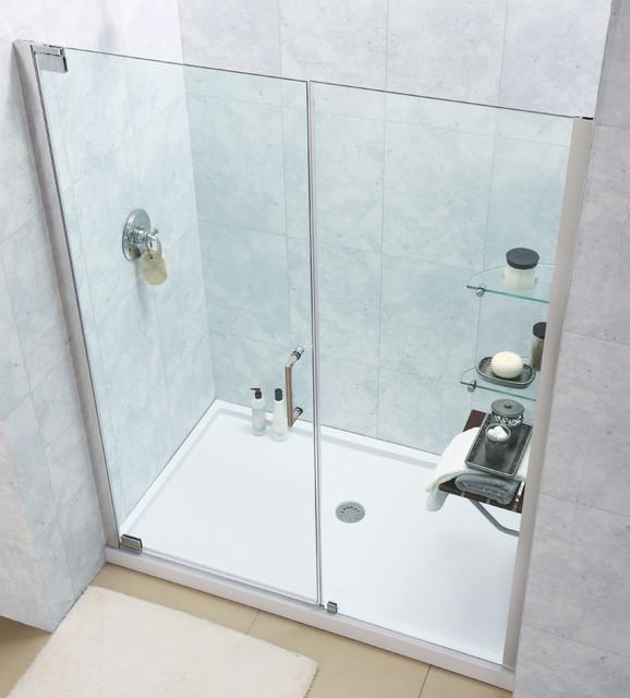 DreamLine Elegance 47 3/4 to 49 3/4-inch Frameless Pivot Shower Door contemporary-showers