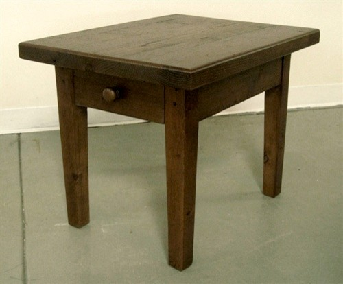 Reclaimed Chestnut End Table farmhouse-side-tables-and-end-tables