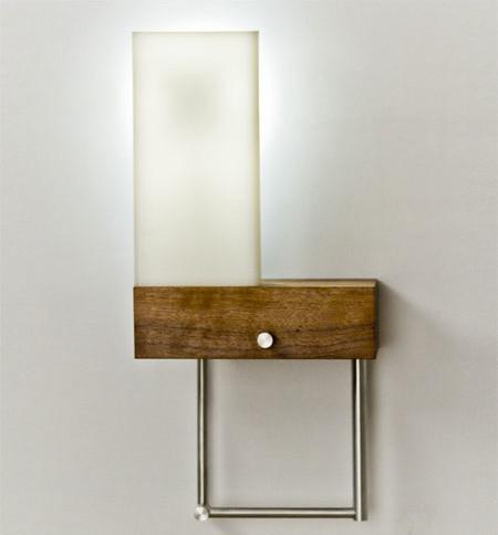 cubo left led plug in wall mount modern light bulbs. Black Bedroom Furniture Sets. Home Design Ideas
