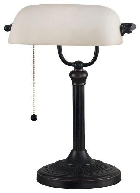 traditional kenroy amherst bankers desk lamp traditional. Black Bedroom Furniture Sets. Home Design Ideas