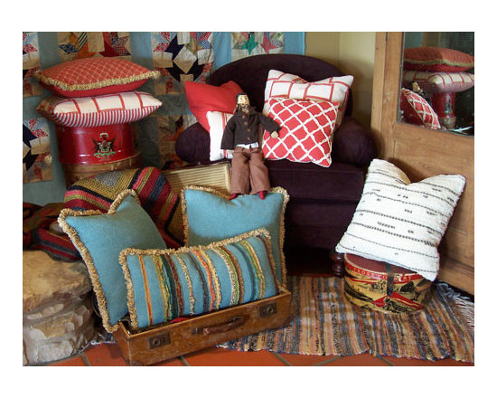 Custom & Ready Made Pillows ~ Country Style Pillows - For That Upscale Cottage, or Cozy Country Home Interior, Artisanaworks Offers an Array of Designer Decorative Pillows.  Couture Custom Workroom Services Available. Artisanaworks