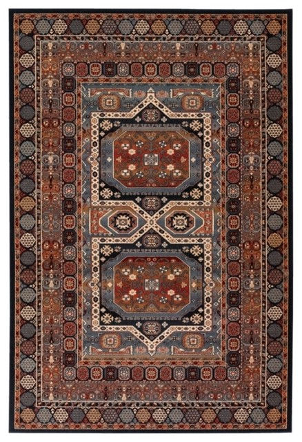 "Timeless Treasures Ebony Rug - 43240500, Size: 9'10"" x 13'9"" traditional-rugs"