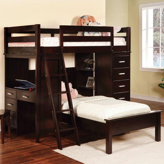 460123 Workstation Bunk Bed modern-beds