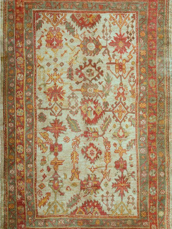"Antique Turkish Oushak Carpets - #18473 antique Turkish Oushak carpet 6'10"" x 11'6"""