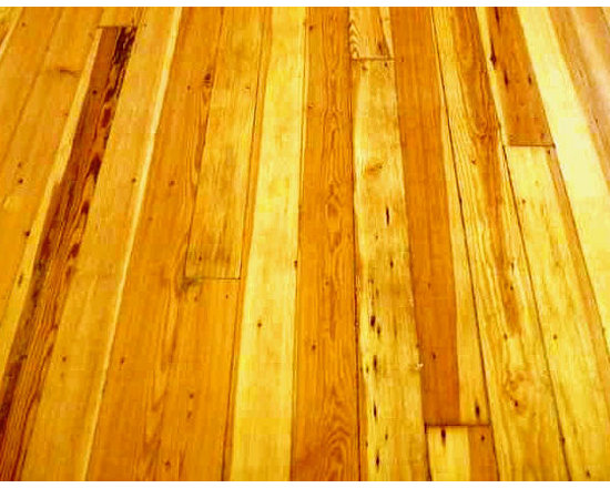 """Historic Flooring LLC - Antique Reclaimed Heart Pine - Southern Longleaf Yellow Pine, commonly called Heart Pine, is prized for its density and strength. This 100% Reclaimed Heart Pine is circa early 1900's. The tight, vertical grain structure yields a beautiful and durable floor with strength that rivals Oak. The red-amber patina is natural with """"hit & miss"""" distressing from original saw kerfs, nail-holes and lived-upon wear."""