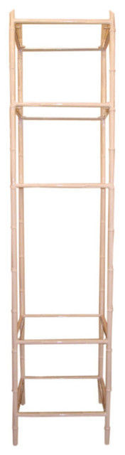 Mid Century Antiques - White Faux Bamboo Etagere bathroom-cabinets-and-shelves