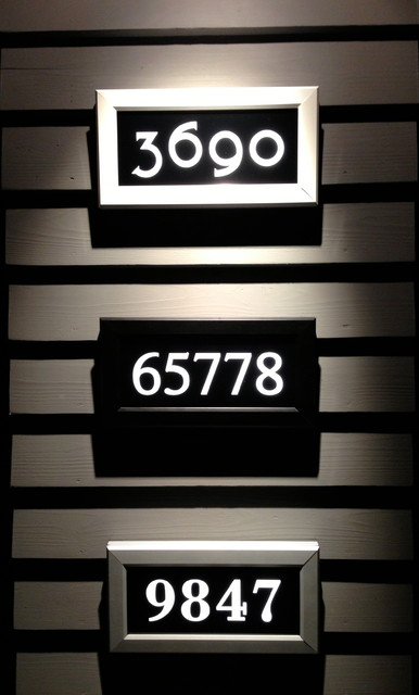 address led illuminated house numbers house numbers. Black Bedroom Furniture Sets. Home Design Ideas