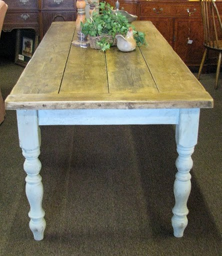 Country Dining Room Farm Table - Eclectic - Dining Tables - houston ...