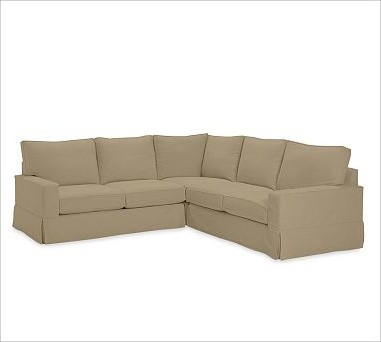 Pb comfort square arm 3 piece l shaped sectional box for 3 piece sectional sofa slipcovers