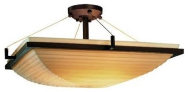 Justice Design Group Porcelina PNA-9782-25-SAWT-DBRZ 24 in. Square Semi-Flush Bo modern-ceiling-lighting