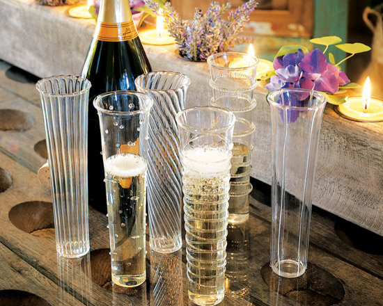 Venetian-Style Champagne Flutes -