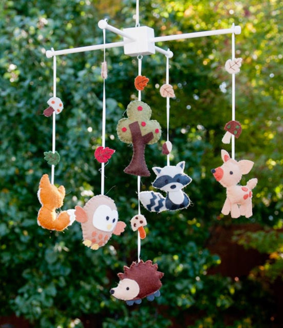 Woodland Wonders Baby Mobile by Lollipop Moon contemporary-baby-mobiles