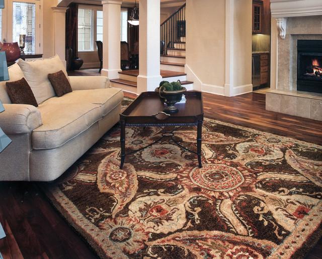 Flooring (Carpet, Tile, Hardwood) traditional-living-room