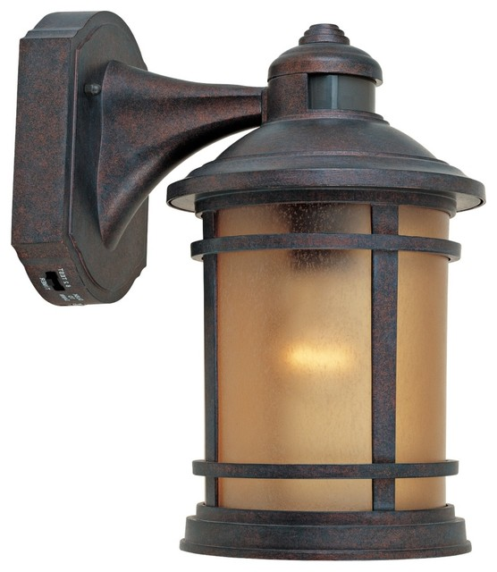 Landscape Lighting Motion Sensor : Traditional sedona motion sensor quot wide patina outdoor