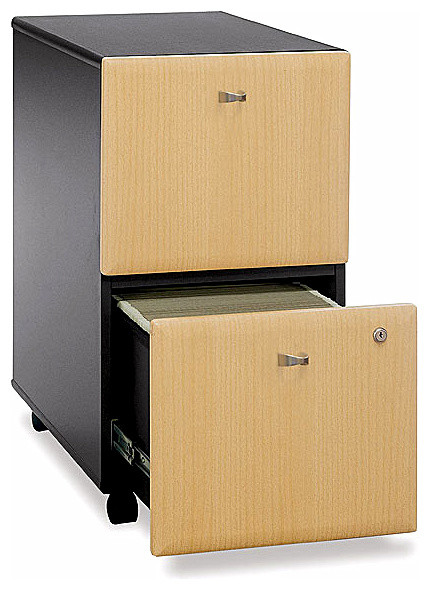 Assembled File Cabinet in Black & Beech - Ser - Contemporary - Filing Cabinets And Carts - by ...