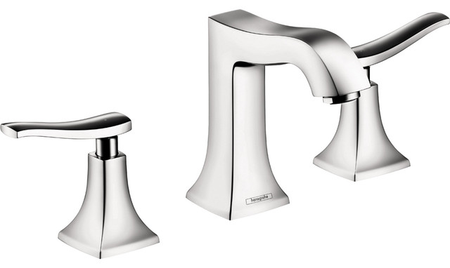 Hansgrohe 31073001 Metris C Widespread Faucet in Chrome modern-bathroom-faucets-and-showerheads