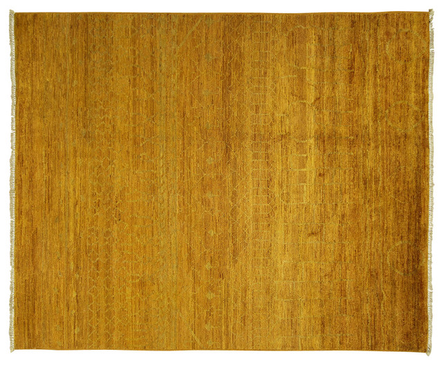 ew Vibrance Collection 8'x10' Sienna Yellow Hand Knotted Modern Wool Rug MC139 modern-area-rugs