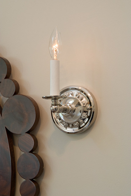 Candle Wall Sconces Electric : Electric Candle Sconce Close up - Traditional - milwaukee - by Brass Light Gallery