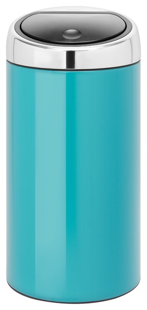Brabantia Touch Bin® De Luxe, Carribean Blue - Modern - Trash Cans - by CutleryAndBeyond