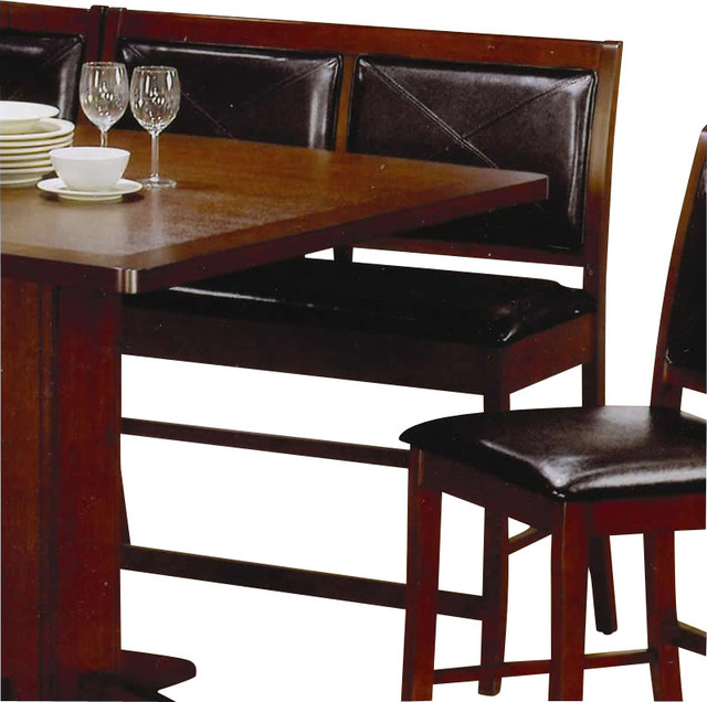 Coaster Lancaster Counter Height Dining Bench in Faux Leather transitional-dining-benches