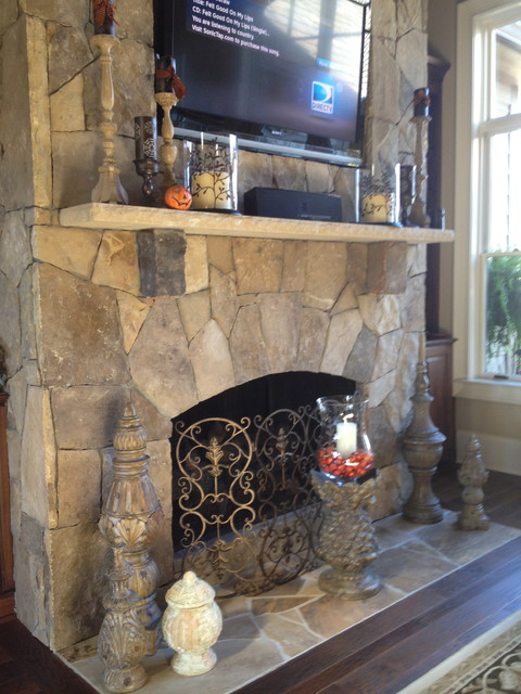 Homes in The Reserve at Lake Keowee eclectic-fireplaces