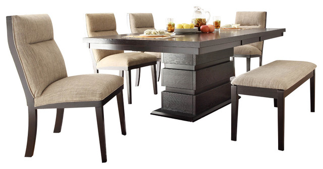 Homelegance Tanager 6 Piece Dining Room Set In Dark Espresso Traditional Dini