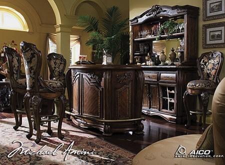 aico furniture bar stool set 51240031 traditional