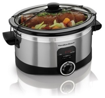 Hamilton Beach 33565 6 qt. Simplicity Slow Cooker modern-gas-ranges-and-electric-ranges
