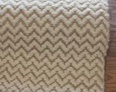 Finland Herringbone Tweed Chevron Brown Rug modern-rugs