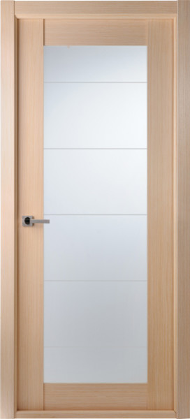 Contemporary bleached oak interior single door lined Modern glass doors interior
